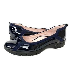 Taryn Rose Adin Traveler Navy Blue Flat Loafers